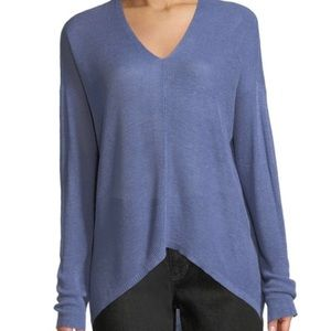 Eileen Fisher Fine Knit Linen Blend V-Neck Sweater